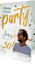 Einladung zum 30. Geburtstag Party mit Foto