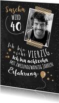 Einladung zum 40. Geburtstag Erfahrung 40