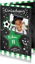 Einladung zum Fußballgeburtstag Kicker