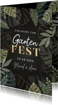 Einladung zum Gartenfest Blätter