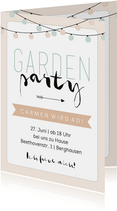 Einladung zum Geburtstag Gartenparty pastell