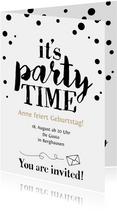 Einladung zum Geburtstag It's Party Time