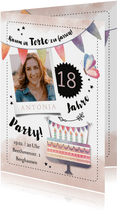 Einladung zum Geburtstag Kaum in Torte zu fassen