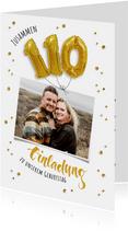 Einladung zum gemeinsamen Geburtstag 110 Ballons