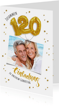Einladung zum gemeinsamen Geburtstag 120 Ballons