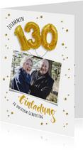 Einladung zum gemeinsamen Geburtstag 130 Ballons