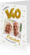 Einladung zum gemeinsamen Geburtstag 140 Ballons