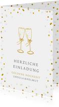 Einladung zum Hochzeitsjubiläum Goldene Gläser
