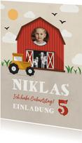 Einladung zum Kindergeburtstag Bauernhof