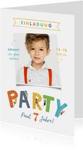 Einladung zum Kindergeburtstag Foto Kletterparty