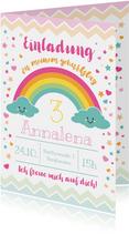 Einladung zum Kindergeburtstag Happy Clouds