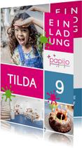 Einladung zum Kindergeburtstag im Papijo
