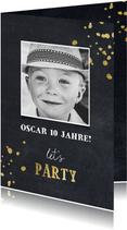 Einladung zum Kindergeburtstag Kreide Let's Party