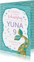 Einladung zum Kindergeburtstag Meerjungfrau