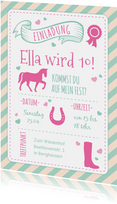 Einladung zum Kindergeburtstag Pferdeliebe