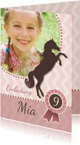Einladung zum Kindergeburtstag Pferdeparty