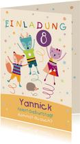 Einladung zum Kindergeburtstag Trampolin