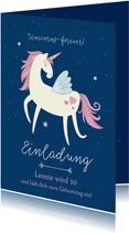 Einladung zum Kindergeburtstag Unicorns forever