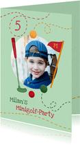 Einladung zum Minigolf Kindergeburtstag mit Foto