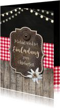 Einladung zum Oktoberfest Alpenhütte