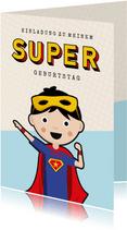 Einladung zum Superhelden-Geburtstag Junge