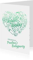 """Einladung zur Babyparty """"Hallo Baby"""" - Junge"""