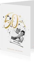 Einladung zur goldenen Hochzeit 50 mit Foto