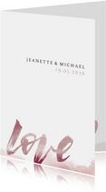 Einladung zur Hochzeit Love Lettering
