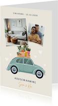 Einladung zur Housewarming Käfer & Fotos
