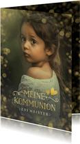 Einladung zur Kommunion Foto & Gold