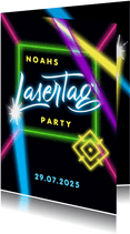 Einladung zur Lasertag-Party