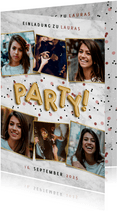 Einladung zur Party mit Fotocollage