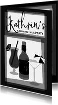 Einladung zur Schwarz-Weiß Mottoparty - Drinks