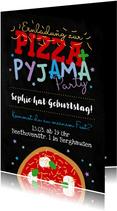 Einladung zur Übernachtungsparty Pizza & Pyjama