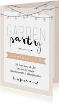 Einladung zurr Gardenparty pastell