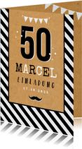Einladungskarte 50. Geburtstag Mann