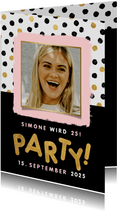 Einladungskarte Frau Geburtstagsparty mit Foto