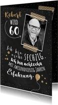 Einladungskarte Geburtstag Erfahrung 60