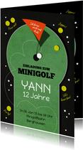 Einladungskarte Kindergeburtstag Minigolf