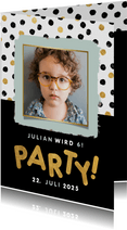 Einladungskarte Kindergeburtstag 'Party' mit Foto
