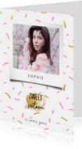 Einladungskarte mit Foto Sweet Sixteen