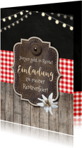 Einladungskarte Rustikale Rentnerfeier