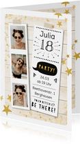 Einladungskarte zum Geburtstag Funparty mit Fotos