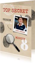 Einladungskarte zum Kindergeburtstag Geheimagent