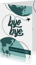 Einladungskarte zur Abschiedsparty - Weltenbummler