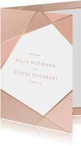 Einladungskarte zur Hochzeit geometrisch