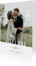 Einladungskarte zur Hochzeit mit Foto und Programmablauf