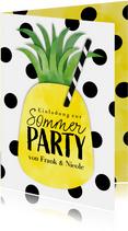 Einladungskarte zur Sommerparty Ananas