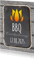 Einladungskarte zur Sommerparty BBQ