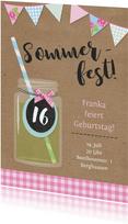 Einladungskarte zur Sommerparty Landlook